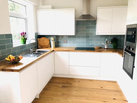 A newly refurbished split level apartment