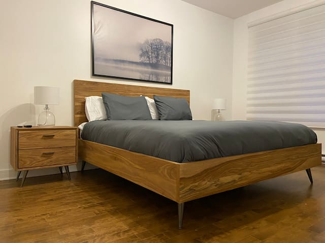Spacious Bedroom with large king-size bed