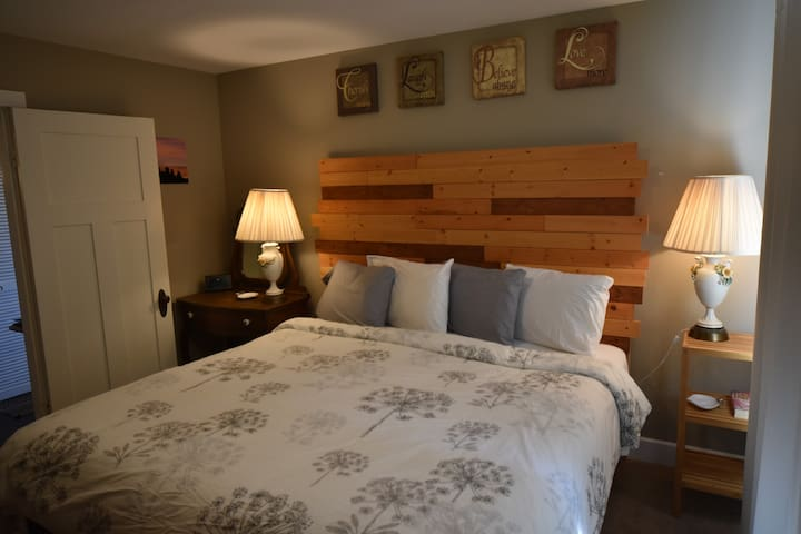 Dreams are definitely sweeter on the coast in our luxurious king-sized bed. There is a dresser and a walk in closet for your clothing storage needs.