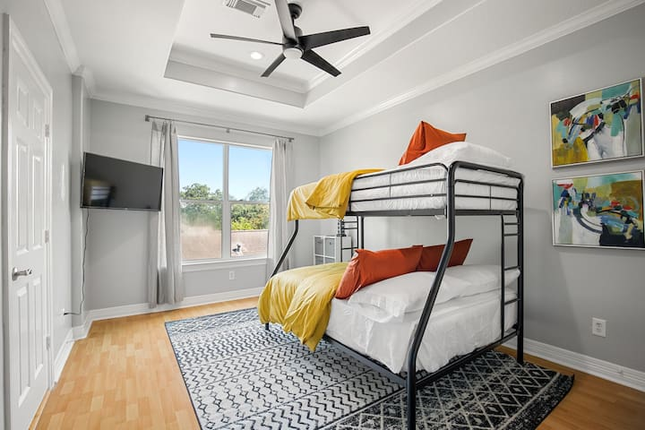 Bedroom3: Located on the 3rd floor. Twin and full bunk bed with ensuite bathroom.