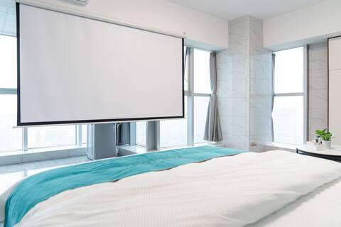 一诺•轻奢公寓【悦时光•120寸VIP4K巨幕投影•可密码可前台入住】