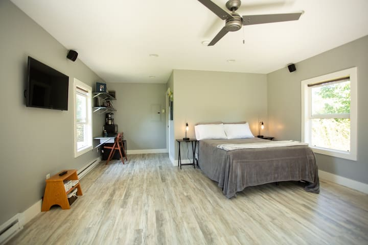 Bright open space with room for you to bring an air mattress if needed! Pack-N-Play available upon request!