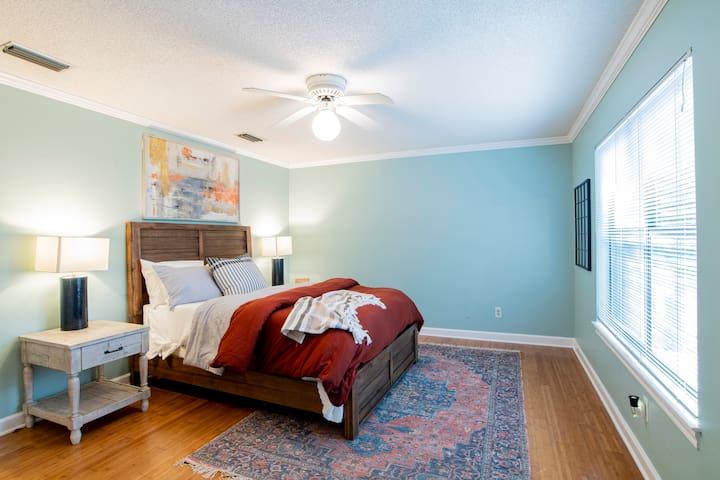 Second floor: Bedroom 3 with plenty of closet space.