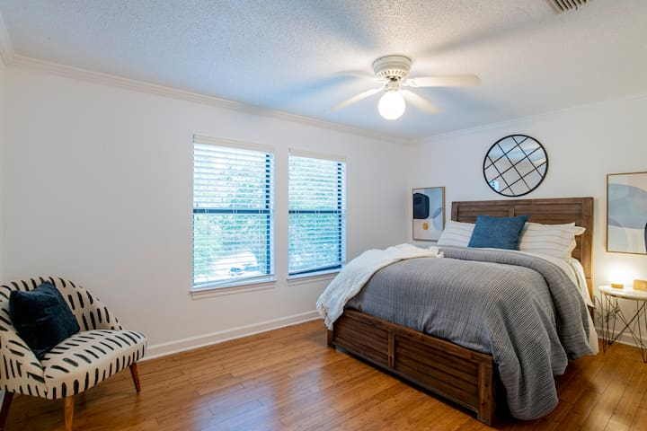Second floor: Bedroom 2 with plenty of closet space.