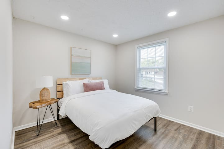 A third bedroom with a double bed.