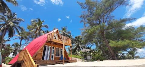 Unique oceanfront cottage.