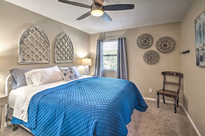 You'll sleep soundly in this main floor bedroom with a pillowtop king  bed.
