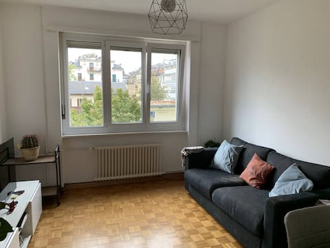 Cosy 3.5 p. close to train station and Rhône