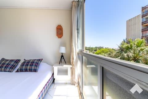Central 1BD Apartment• 2min to Marina +AC