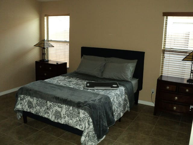 Master Bedroom Layout (includes: dresser with drawer organizers, nightstands, TV, bed tray, etc.)