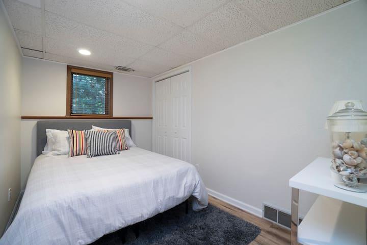 Bedroom #3. Queen bed with closet.