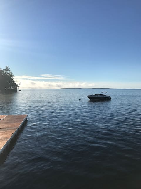 Sebago Lake house right on the water. Great views!