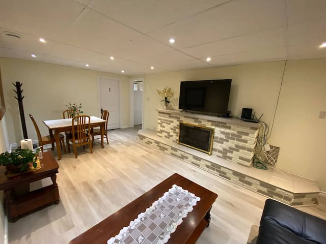Basement living and dining