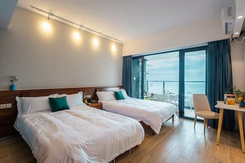 汕尾保利玥海公寓海景房,汕尾靠海,沙滩公寓,天边海景,独享整套1房2床,看地图就知道有多靠海,近海滩