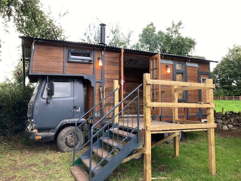 'The Wagon' our newly converted vintage horsebox