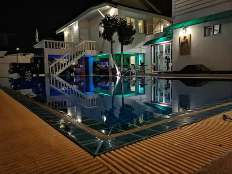 Mansion with  pool, playroom  and fitness.