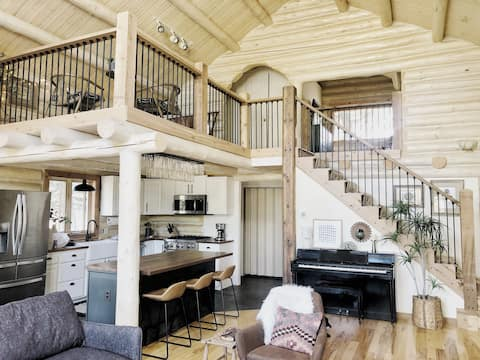 Rustic and Modern, Black Mountain Pine - a Cabin