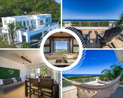 The House on the Cliff PR, 180°ocean view, 5min🏝