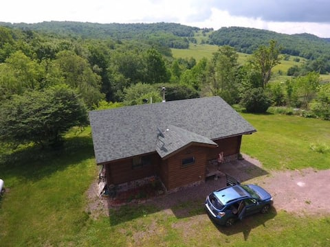 Stunning 2 bedroom log home with amazing views