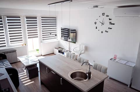 Spacious apartment with free parking and kids room
