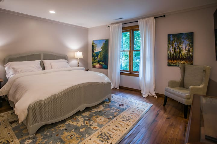 The Linville room is on the second floor and features a king bed.