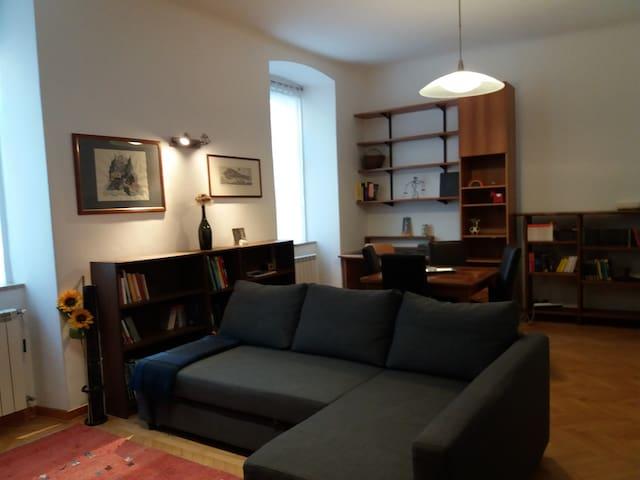Ampio soggiorno con divano letto