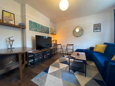 Apartamento acolhedor de 1 quarto perto da estação da zona 3