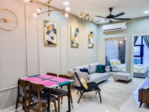 5⭐ 2BR Luxury Suites at Arte Mont Kiara NETFLIX