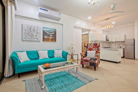 2 BHK Tranquil Bluetique Apartment, Candolim