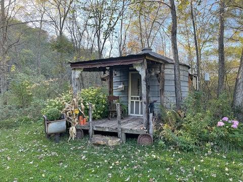 Kornbehälter in eine schöne Unterkunft umgewandelt