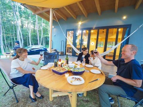 那須アーバン、キャンプファイヤー、BBQ、花火、薪ストーブ、夫婦の語い、家族の絆、ハイパーク至近。