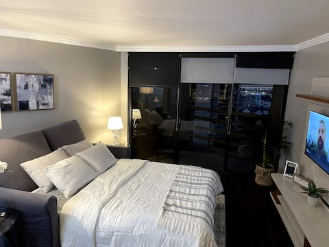Highrise Condo with City View-Galleria Area!
