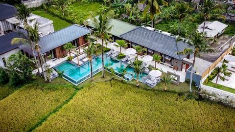 Promo! Brand New 5 Bdr Pool Villa w/ Ricefields View