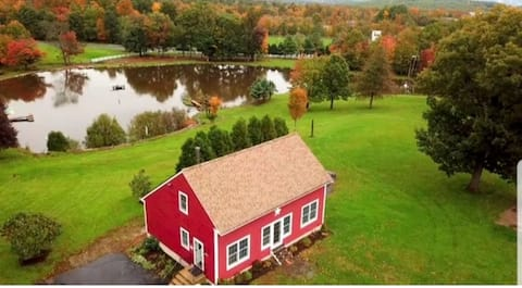 Relax in The Farmhouse on a beautiful land & pond.