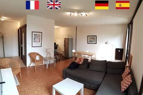 Les Violettes, Appartement spacieux et lumineux