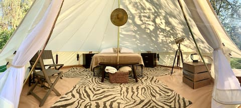 African Glamping Tent +Tour at Conservation Center