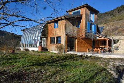 grande maison bioclimatique parc régional Vercors