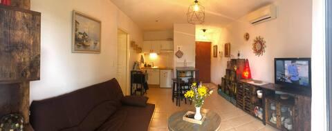Appartement en résidence calme, av parking privé