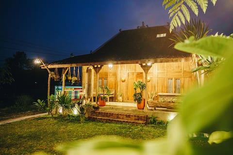 Javanesiskt hus med privat pool @ hjärtat av staden