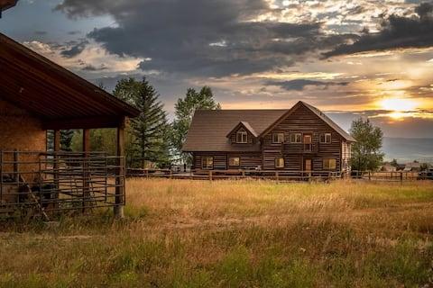 Luxury Log Cabin Nestled in the Teton Foothills