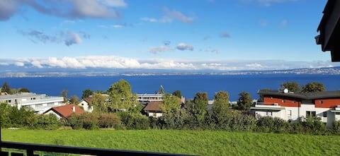 Évian, appartement cosy et chaleureux avec vue Lac