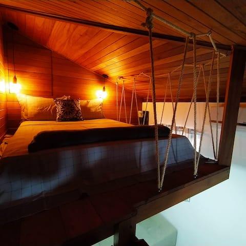 Loft encantador (D) - 8 km de Floripa