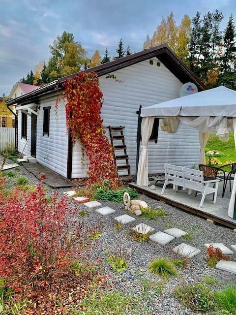 Уютный коттедж с баней и мангальным домиком
