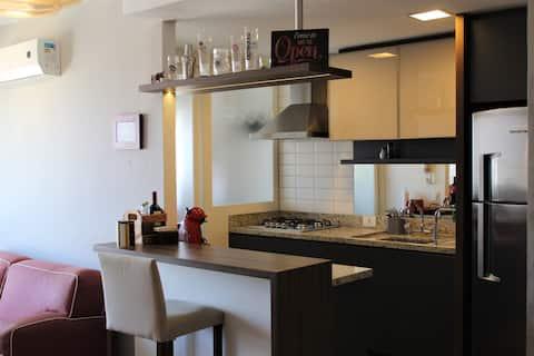 Ótimo apartamento em condomínio no Jardim Lindóia