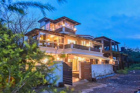 Villa Premium 3BHK Lonavala con accogliente sala per feste