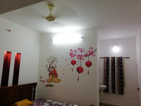 Beautiful furnished self cooking house rent