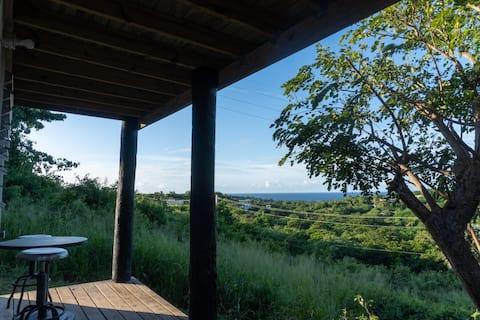 Incredible ocean view, private cabin studio