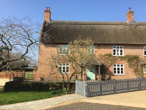 Traditional Norfolk thatched farmhouse
