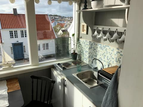 Room with a view in the old chapel of Skudeneshavn