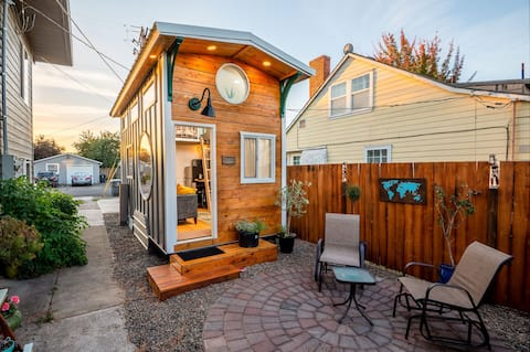 Adorable modern tiny house with private patio.